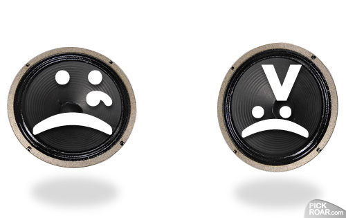 sad & angry smiley guitar speakers