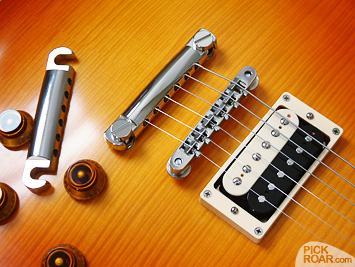 Gotoh zinc (left) and aluminum tailpieces