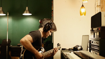 Troy Grady in the studio